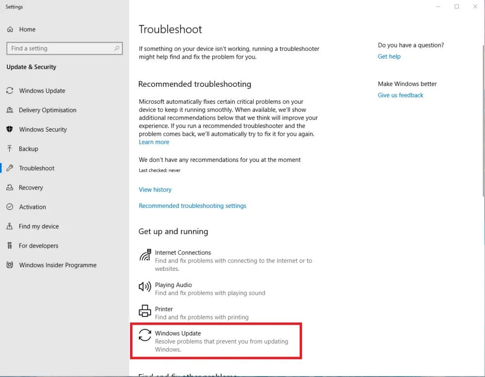 How to fix Windows 10 Update error code 0x80070070