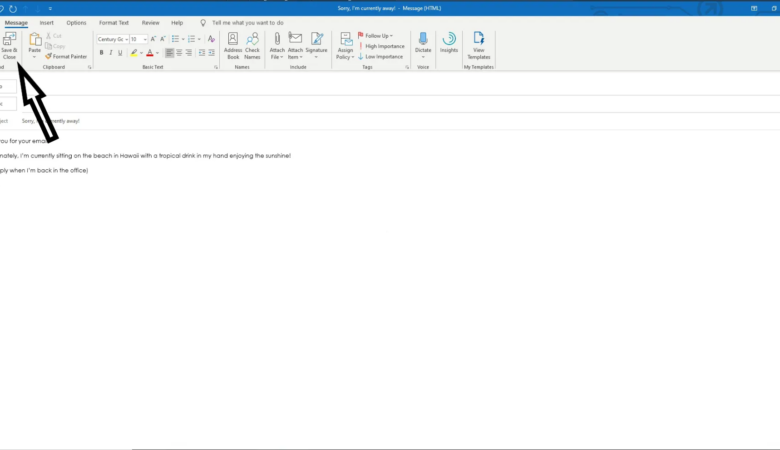 How to set up recurring Out of Office auto-reply for certain days of the week in Outlook 2016