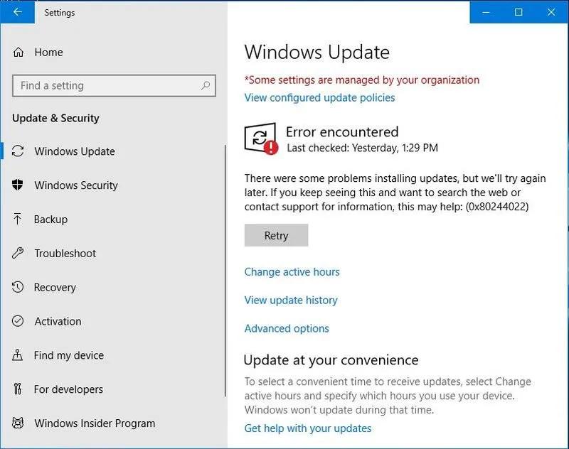How to fix Windows 10 Update Error 0x80240034