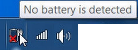 "Fixed ""Battery not detected"" error in Windows 10"