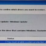 Correcting the 'You Must Enable System Protection on This Drive'