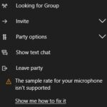 Fixed Microphone sample rate is not supported