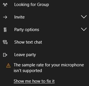 Fixed Microphone sample rate is not supported.