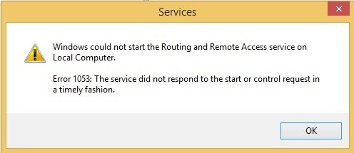 """How do I fix the """"1053: Service did not respond in time to start or control request"""" error?"""
