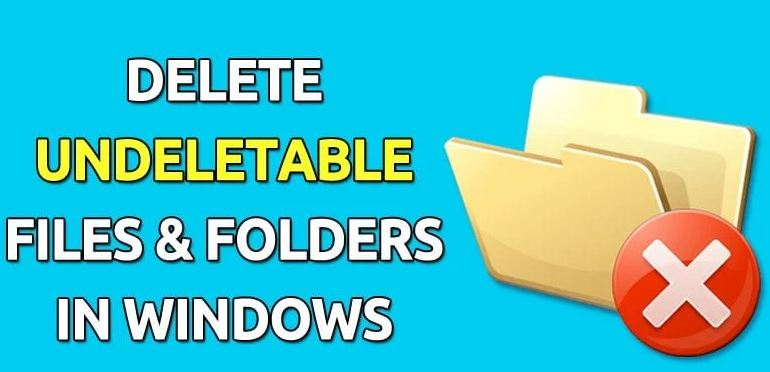 How to delete a stubborn and unrecoverable file or folder in Windows 10.