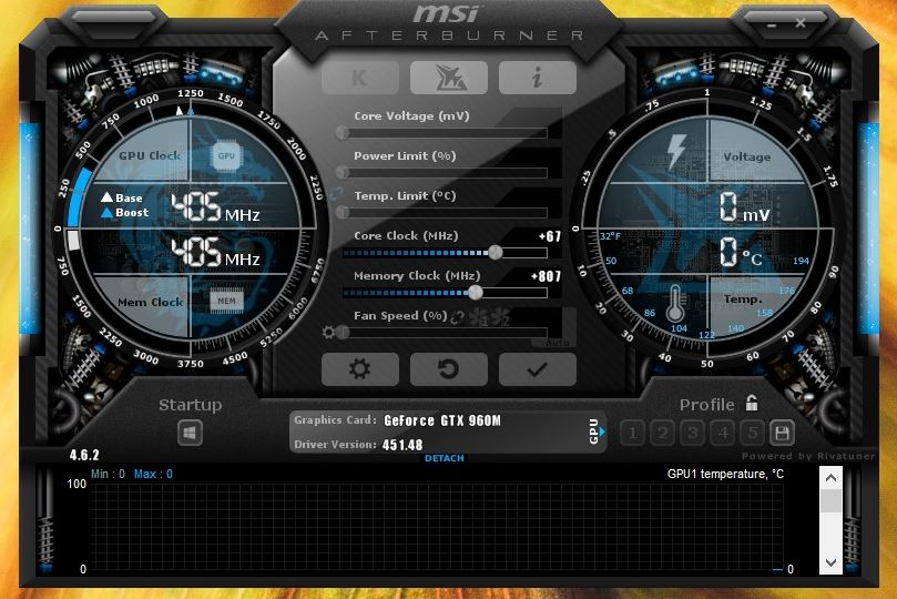How to repair an MSI afterburner that doesn't work