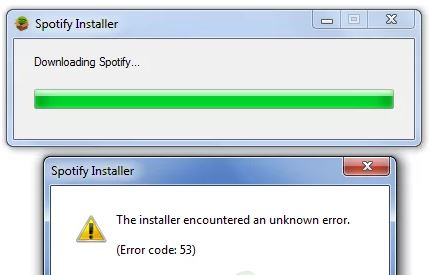 The Spotify installation error code 53 in Windows has been resolved
