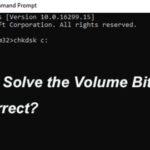 "Solving the CHKDSK ""The Volume Bitmap is Incorrect"" error"