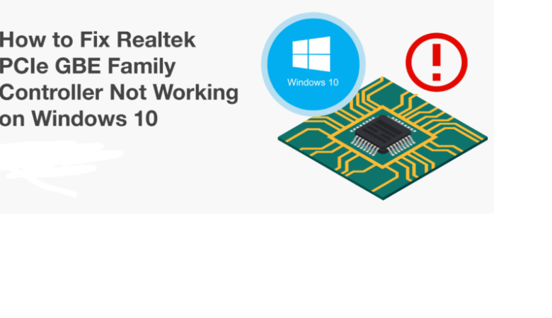 Troubleshooting the Realtek PCIe GBE family controller not working