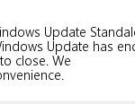 The Windows 0xc80003f3 bug has been resolved
