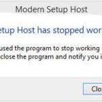 modern setup host error