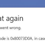 Fixed Windows Store error 0x80073d0a