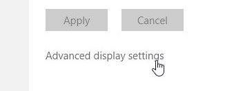 Fixing missing advanced display settings in Windows 10