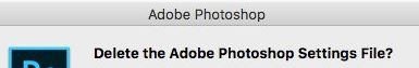 How do you solve Photoshop's problem of not creating new files and not opening existing files?