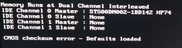 How to fix Windows CMOS checksum error (resolved)