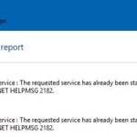 "Restore: Windows error ""NET HELPMSG 2182"""