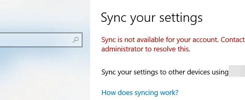 "Fixing the ""Synchronization not available for your account"" error"