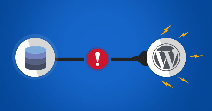 What causes a database connection error in WordPress?