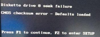 What is the cause of a CMOS checksum error in Windows?