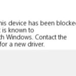 """Retrieve Windows error code 48 - """"The software on this device has been blocked at startup because it is known to have problems with Windows"""""""