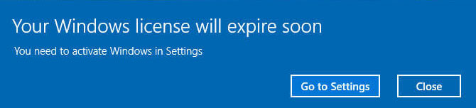 """How to fix the """"Windows license is about to expire"""" error"""