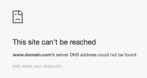 To recover domain names that are not working