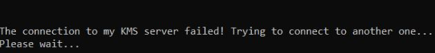 """How do I fix the """"Failed to connect to the KMS server"""" error?"""