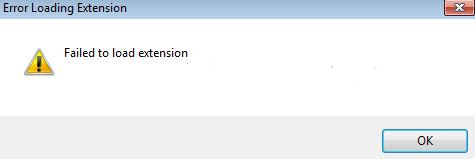 Fixed chrome error : Failed to load the extension