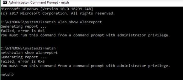 Fixed bug 0x3A98 when generating a WlanReport via CMD