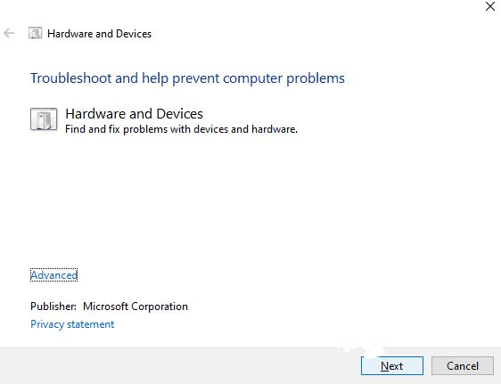 Here's how to fix the Hardware and Device Troubleshooter missing error
