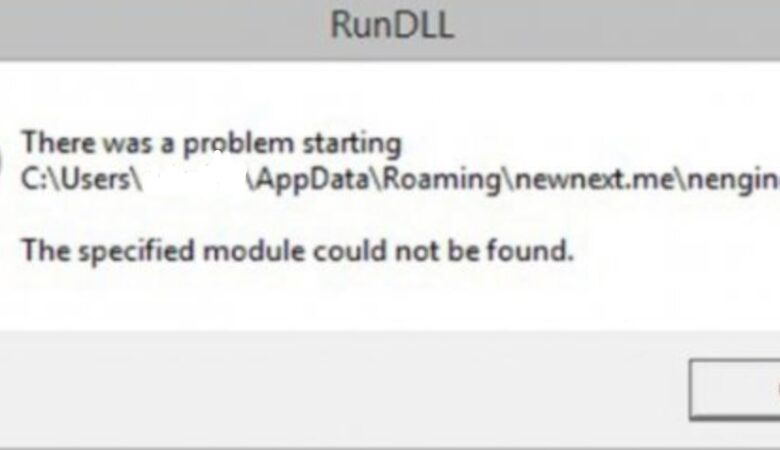 How to fix the RunDLL error : There was a problem at startup