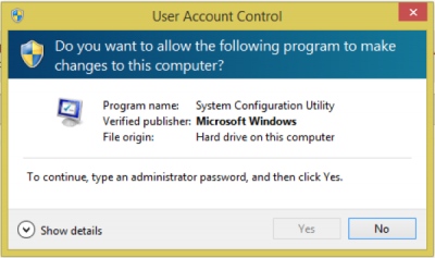 "Fixed UAC error ""To continue, enter administrator password"" in Windows 10"