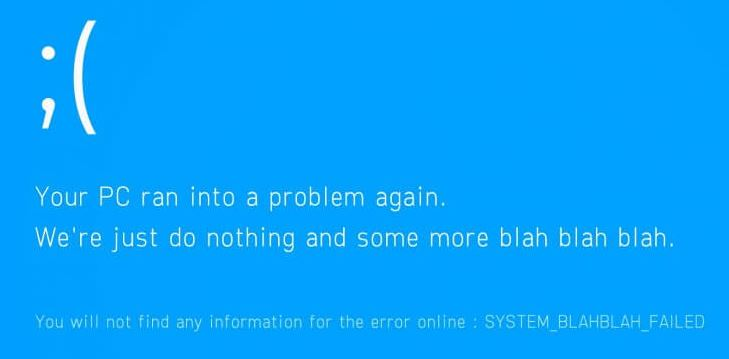 What causes blue screen error 0x000000EA?