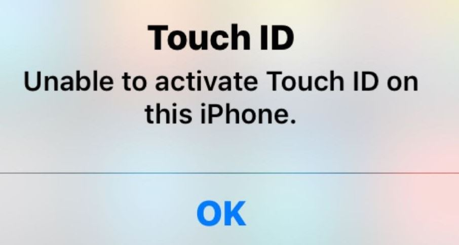 """What causes the """"Touch ID cannot be enabled on this iPhone"""" message?"""