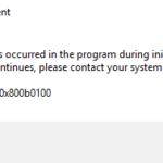 How to fix the Windows Defender error 0x800b0100