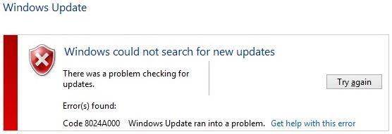 To fix Windows Update error 0x8024a000