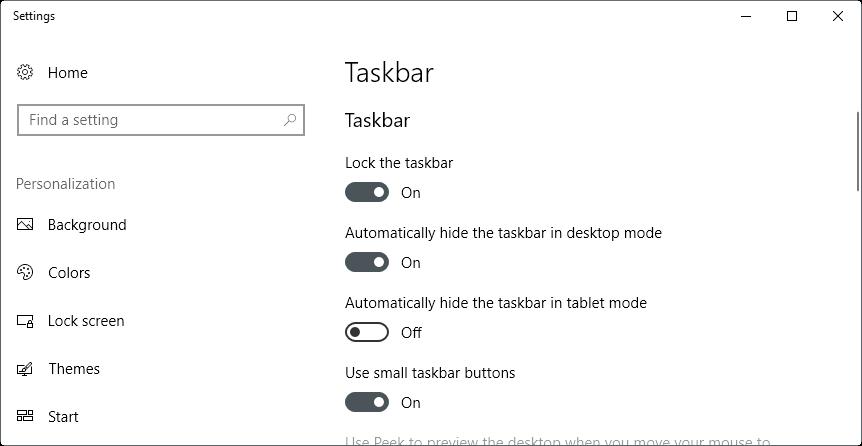 Fixed that the Windows taskbar doesn't hide