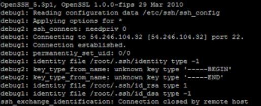 Fixed ssh_exchange_identification - connection closed by remote host