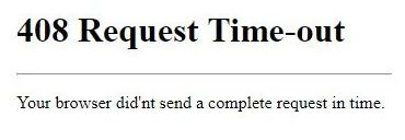 How to troubleshoot the 408 Request Timeout Error