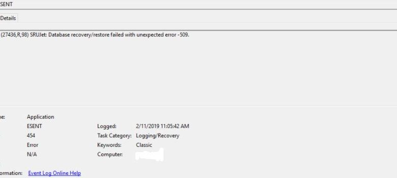 How to fix the Event ID 454 error on Windows 10