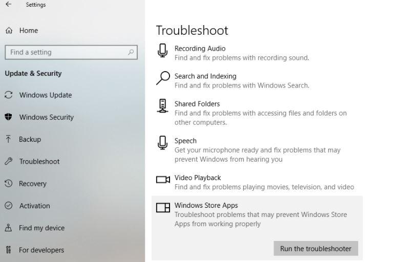 To fix Microsoft Store or Windows Update error 0x80D05001