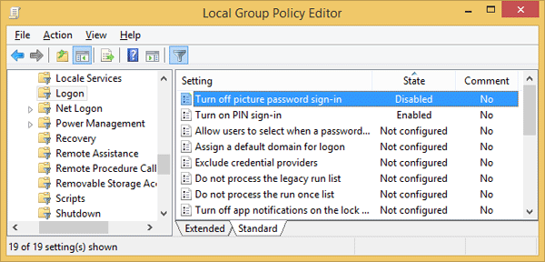 """How to fix the """"picture-password"""" login option unavailable in Windows 10"""