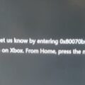 Xbox One error code 0X80070BFA
