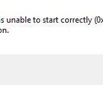 error 0xc0150004 in a Windows application