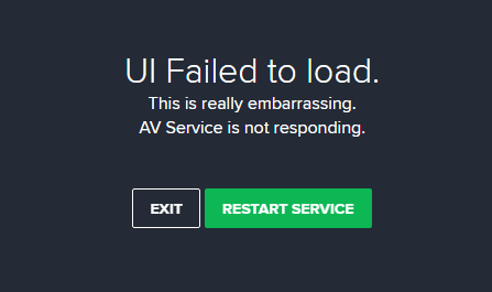"""How do I fix the """"Avast UI Failed to Load"""" message in Windows 10"""