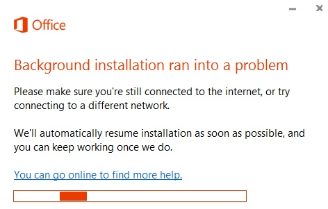"""Troubleshoot """"Background installation encountered a problem"""" error message in Windows 10"""