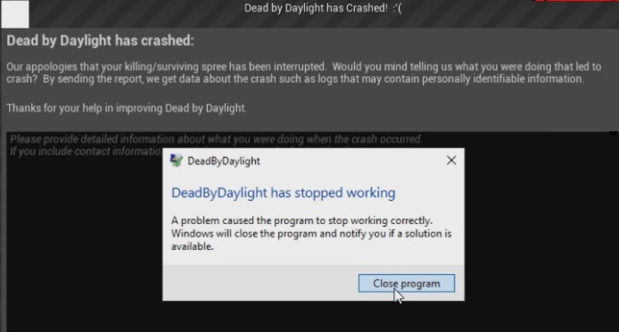Why does Dead by Daylight Crash on Windows 10?