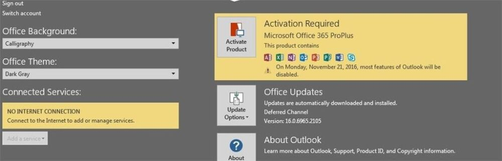 """How to Troubleshoot the Office 365 """"No Internet Connection"""" Error in Windows 10"""